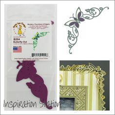 Butterfly Border Steel Die Cut Out Corner Cheery Lynn Craft Cutting Dies for sale online Paper Butterflies, Butterfly, Flourish, Card Ideas, Insects, Corner, Metal, Cards, Animals
