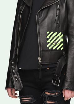 SPRAY PAINT LEATHER JACKET
