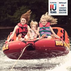 Lift off, a perfect moment of exhilaration. What's your fav #boating or #tubing moment #Canada? Celebrating 10 Years BOATsmart! Photo by wsilver.
