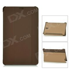Flip Open PU   PC Case w/ Stand / Auto-Sleep for 8.4'' Samsung Galaxy TabS T700 - Brown Price: $8.73