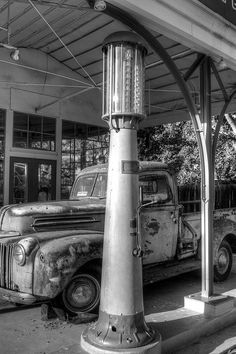old gas station by herminia