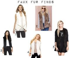 faux fur vest favorites