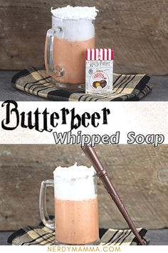 This Harry Potter-inspired Butterbeer Whipped Soap is a fanciful craft and fun to make. Great as a gift, or just to have an enjoyable bath. Craft Projects For Kids, Arts And Crafts Projects, Activities For Kids, Diy Father's Day Gifts, Fathers Day Gifts, Easy Arts And Crafts, Fun Crafts, Harry Potter Food, Whipped Soap