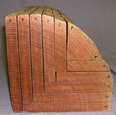 Visual reference to show how oak is cut to make rift and quarter-sawn oak