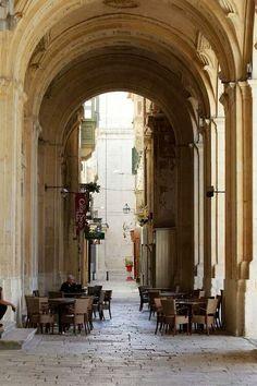 Terrace - Valletta, Malta
