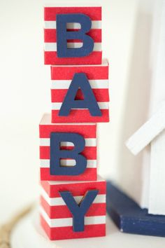 Nautical Themed Baby Shower Centerpiece by Partyography on Love the Day