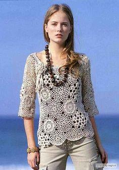 ergahandmade: Crochet Top + Diagrams                                                                                                                                                                                 More