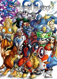 Disney-Marvel mashup :D- My favorite Disney as my favorite Marvel