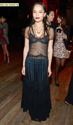 MESH DRESS LOVE! OVER DENIM ZOE KRAVITZ