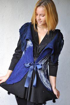 Navy vest by Jelena Ost, Shellen Design