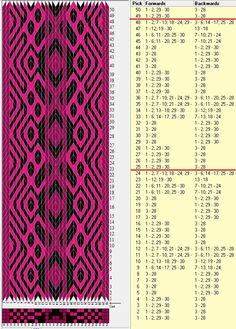 30 tarjetas, 3 colores, repite cada 24 movimientos / sed_760b diseñado en GTT༺❁