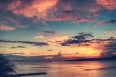 Sunset in Candidasa, Bali