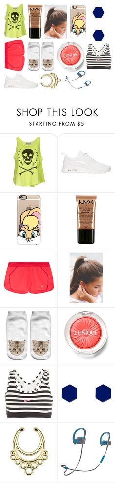 """Running!"" by hailey-smith-13 ❤ liked on Polyvore featuring Wildfox, NIKE, Casetify, NYX, Clinique and Wolf & Moon"