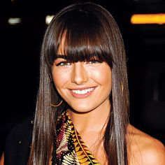 One of the very few celebrities that suit blunt fridges, Camilla Belle. The only issue with having this fringe is growing it out again and trying to style it!