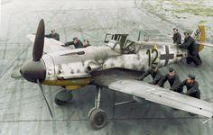 Messerschmitt Bf-109 G6/R6 5.Jagdgeschwader 2 (Schwarze 12) WNr 27083 DP+JC o...