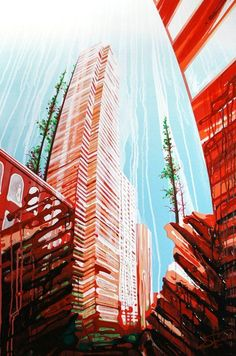 Urban Landscapes Paintings by AmyShackleton