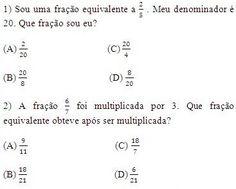 Matemática, faz parte!: Exercícios de Frações Equivalentes