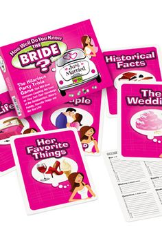 Get all the Bachelorette Party Games you need for a fun, flirty or wild Bachelorette Party! Shop Bachelorette drinking games, party dares, trivia and more! Bachelorette Dares, Bachelorette Party Scavenger Hunt, Bachelorette Party Drinks, Bachelorette Weekend, My Bridal Shower, Bridal Shower Games, Bridal Showers, Adult Party Games, Wedding Games