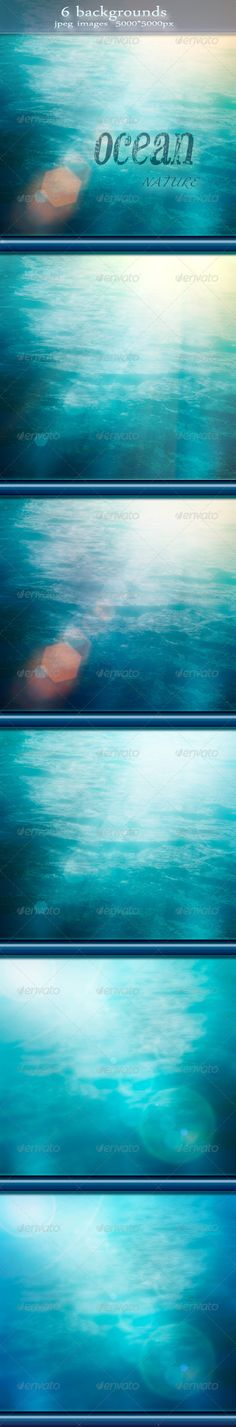 Nature Summer Ocean Backgrounds with Bokeh Effect