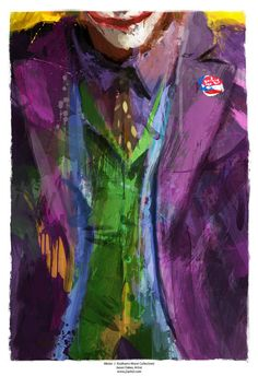Gotham's Worst Mister J Joker Abstract Art Panel 11 x by j2artist