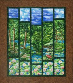 Use a large scale print for this wall hanging. Summer Day Quilt Pattern QCD-033 by The Quilting Cupboard - Ann Kisro.  Check out our seasonal patterns. https://www.pinterest.com/quiltwomancom/seasonal-patterns/  Subscribe to our mailing list for updates on new patterns and sales! http://visitor.constantcontact.com/manage/optin?v=001nInsvTYVCuDEFMt6NnF5AZm5OdNtzij2ua4k-qgFIzX6B22GyGeBWSrTG2Of_W0RDlB-QaVpNqTrhbz9y39jbLrD2dlEPkoHf_P3E6E5nBNVQNAEUs-xVA%3D%3D