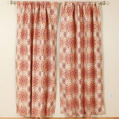 """The Pillow Collection Kaleidoscope Rod Pocket Curtain Panels Size: 50"""" W x 108"""" L"""