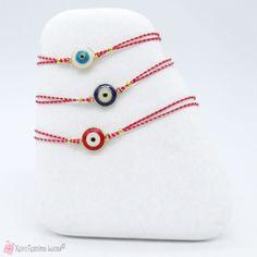Μαρτάκι βραχιολάκι με μάτι σε διάφορα χρώματα Washer Necklace, Bracelets, Jewelry, Jewlery, Jewerly, Schmuck, Jewels, Jewelery, Bracelet