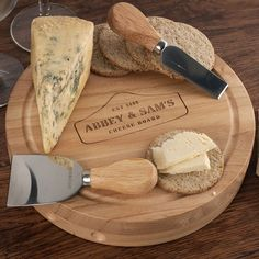 Personalised Wooden Cheese Board Set - Cheese Lover | Engraved Gifts by Getting Personal
