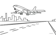 25 Best Airplane coloring pages images