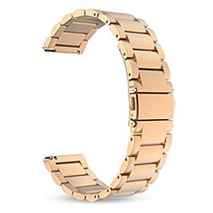 Amazon.com: Lamshaw Smartwatch Band for Fossil Q Wander Gen 1/Gen 2 ,Stainless Steel Metal Replacement Straps for Fossil Q Wander Smartwatch (Rose Gold): Cell Phones & Accessories