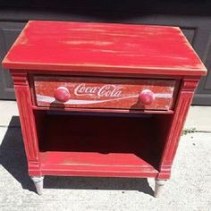 Repurposed Coca Cola Table