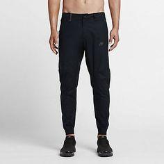 NWT NIKE TECH BONDED JOGGER MEN'S PANTS 823363-010 BLACK ON BLACK SZ 36 L  Clothing, Shoes & Accessories:Men's Clothing:Athletic Apparel