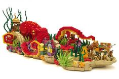 What do you call an octopus floating on a bed of roses? #legos