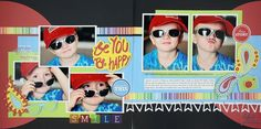 Be You Be Happy Be Young Cricut Cartridge Scrapbook Layout Project Idea