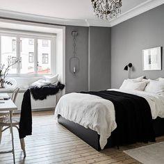 Grey White Bedroom Bedroom In 2019 Scandinavian Bedroom Bedroom White Bedroom, Modern Bedroom, Bedroom Decor, Cozy Bedroom, Scandinavian Bedroom, Scandinavian Style, Minimalist Bedroom, Bedroom Styles, Beautiful Bedrooms