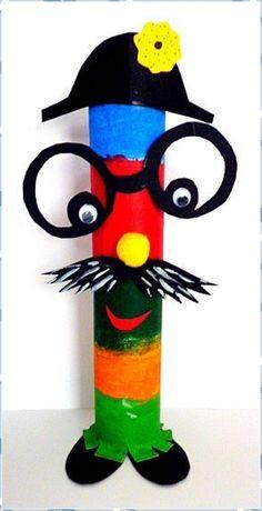 Fantasy figures u. Newspaper garland - Carnival crafts - My grandchildren . - Fantasy figures u. Newspaper garland – Mardi Gras – My grandchildren and I - Kids Crafts, Clown Crafts, Circus Crafts, Carnival Crafts, Carnival Decorations, School Decorations, Fall Crafts, Diy And Crafts, Arts And Crafts