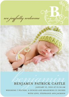 Knit hat for baby announcements