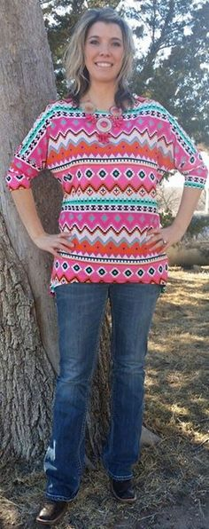 Right Color Tribal Tunic $ 25 www.gypzranch.com Like us on Facebook @ GypZ Ranch