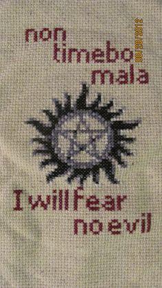 Supernatural Anti-Possession Symbol & Quote (calmandreposed22 via Etsy)