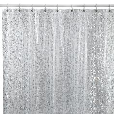 Pebbles Silver 72 Inch X 72 Inch Vinyl Shower Curtain