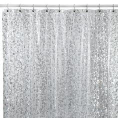 Pebbles Silver 72-Inch x 72-Inch Vinyl Shower Curtain