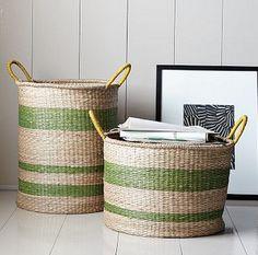 West Elm Seagrass baskets