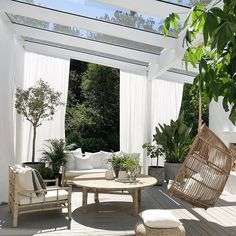 Don't be tempted to overspend when creating the perfect outdoor space. The large backyard landscaping ideas can get costly quickly if you're not careful. Outdoor Rooms, Outdoor Living, Outdoor Decor, Patio Interior, Interior And Exterior, Backyard Patio, Backyard Landscaping, My Dream Home, Exterior Design