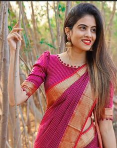 New Saree Blouse Designs, Simple Blouse Designs, Stylish Blouse Design, Bridal Blouse Designs, Blouse Designs Catalogue, Sari Blouse, Long Dress Design, Designer Blouse Patterns, Anarkali