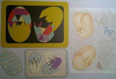 Split æg DIY påskeæg og påske kort. Påske æg med overraskelse