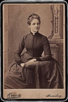 What a dignified, elegant look this well dressed Victorian woman has to her. #woman #Victorian #vintage #portrait #1800s #19th_century #dress