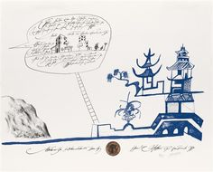 Artwork by Saul Steinberg, Bauhaus, Made of Color lithograph on white wove paper