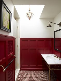Love ruby panels here and flooring///