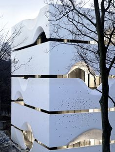 The concept of Blockhouse is almost the living attitude of many Chinese; a minimal opening to the surrounding landscape is the only perforation of the richness inside the house, say the architects.