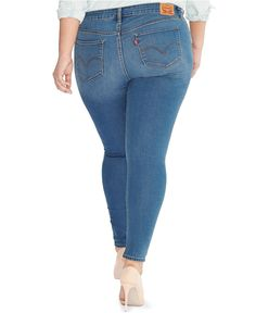 Levi's® Plus Size 310 Shaping Super Skinny, Clear Sky Wash - Jeans - Plus Sizes - Macy's